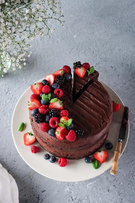 image of Easy Vegan Chocolate Cake