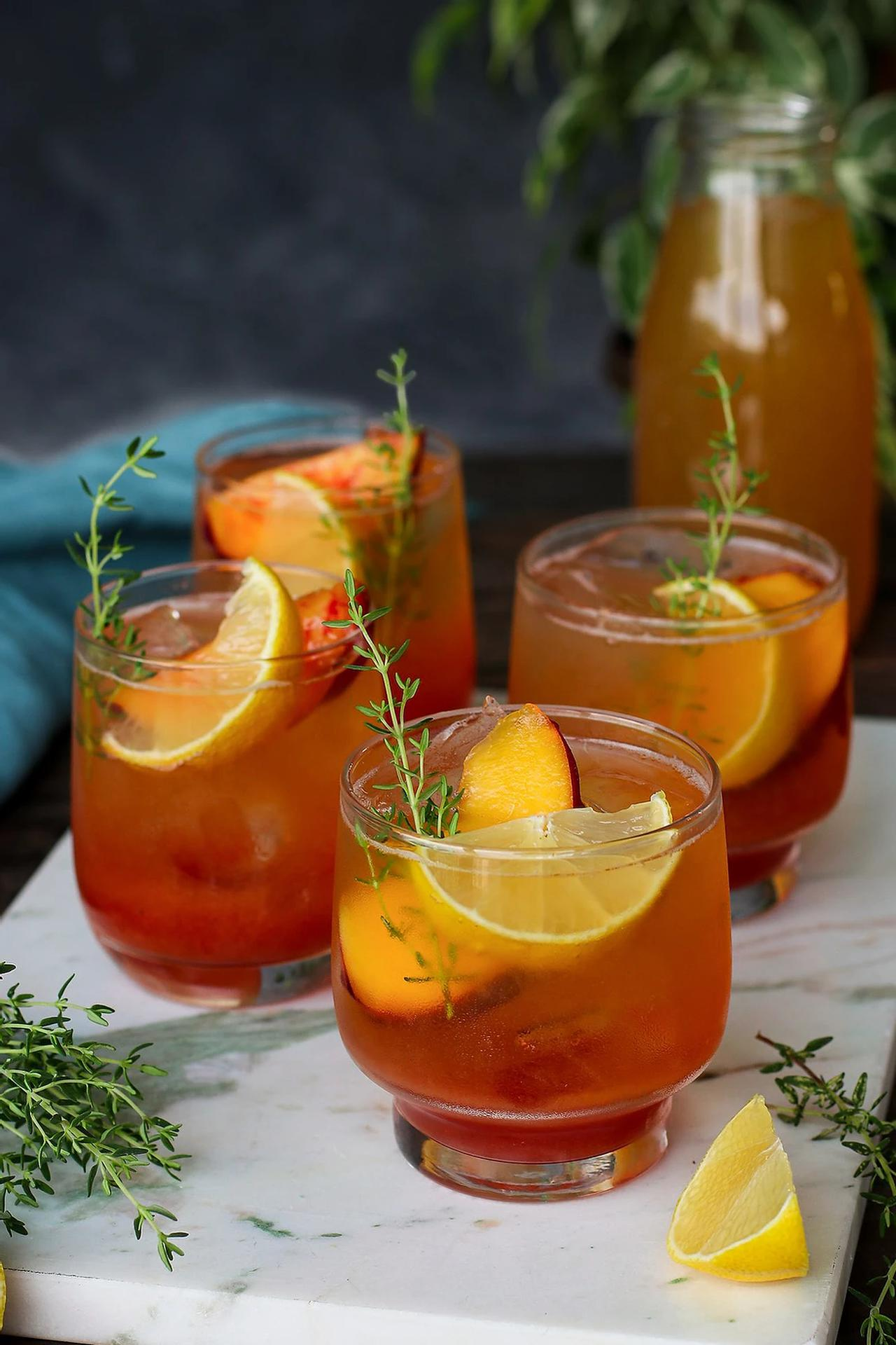 Main image of Peach Thyme Iced Tea