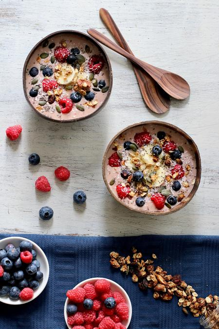 image of Peanut Butter & Jelly Smoothie Bowl