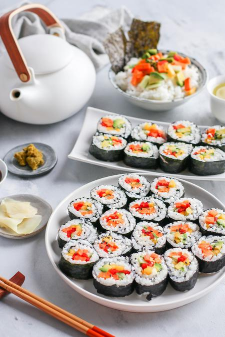 image of Rainbow Veggie Rolls