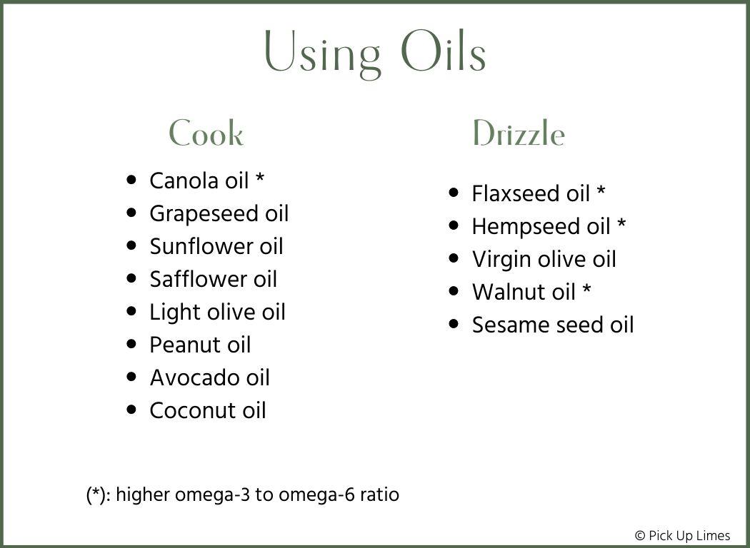 using oils